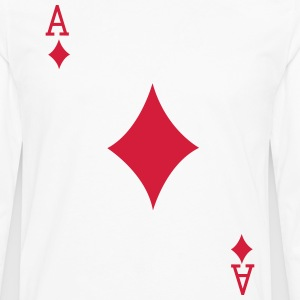 Ace Playing Card T-Shirts - Men's Premium Longsleeve Shirt