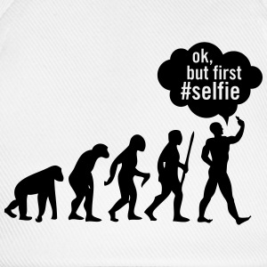 Evolution - Ok, But First #Selfie T-shirts - Baseballkasket