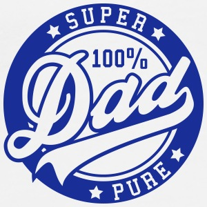 100 percent PURE SUPER DAD Flaskor & muggar - Premium-T-shirt herr