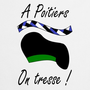 A Poitiers, on tresse ! vert Sweats - Tablier de cuisine