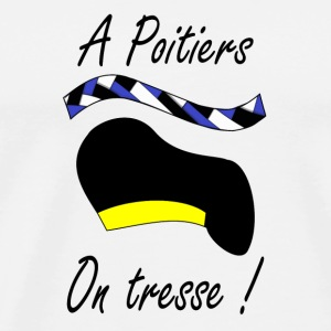A Poitiers, on tresse ! jaune Bottles & Mugs - Men's Premium T-Shirt