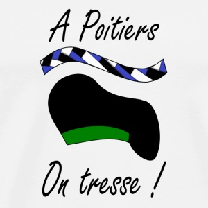 A Poitiers, on tresse ! vert Bottles & Mugs - Men's Premium T-Shirt