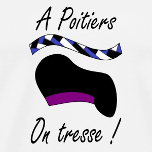 A Poitiers, on tresse ! violet Kopper & flasker - Premium T-skjorte for menn