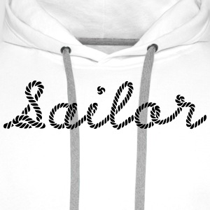 Sailor, Sailing, Skipper, Rope, Sea T-Shirts - Männer Premium Hoodie