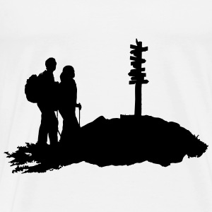 Hiking duo Tank Tops - Men's Premium T-Shirt