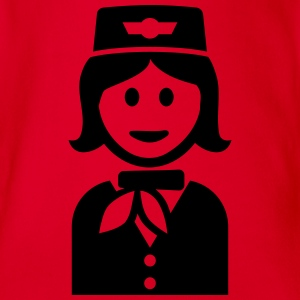 Stewardess T-Shirts - Baby Bio-Kurzarm-Body