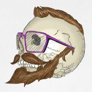 Hipster Skull Moustache Tee shirts - Casquette classique