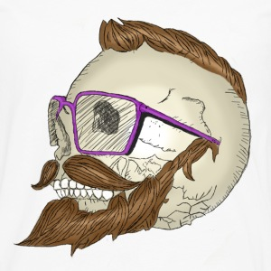 Hipster Skull Moustache Tee shirts - T-shirt manches longues Premium Homme