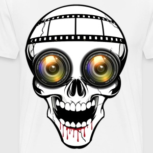 cyber skull Long sleeve shirts - Men's Premium T-Shirt