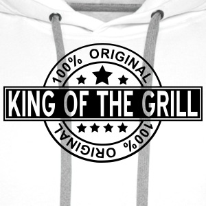 king of the grill T-shirts - Premiumluvtröja herr