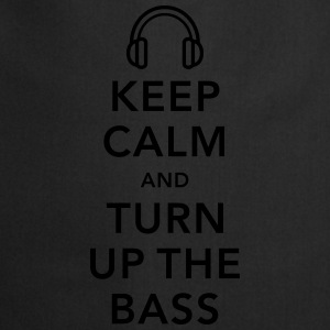keep calm and turn up the bass Shirts - Keukenschort