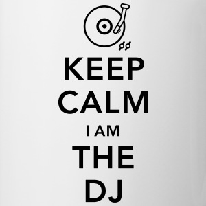 keep calm i am deejay dj Camisetas de manga larga - Taza