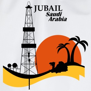 Oil Rig Jubail Saudi Arabia Middle East - Drawstring Bag