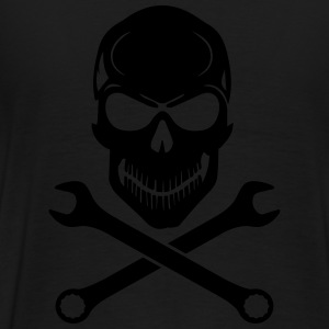 Car Tuning / Car & Bike Wrench - Skull Tröjor - Premium-T-shirt herr