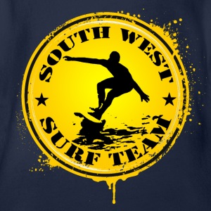south west surf  team Shirts - Organic Short-sleeved Baby Bodysuit