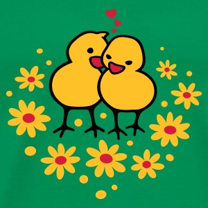 Chicks in Love - Herre premium T-shirt