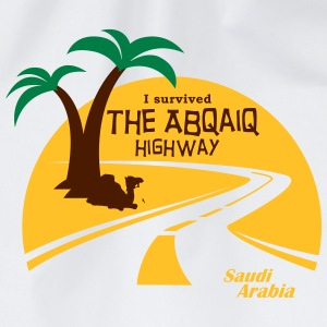 Saudi Arabia Highway Middle East - Drawstring Bag