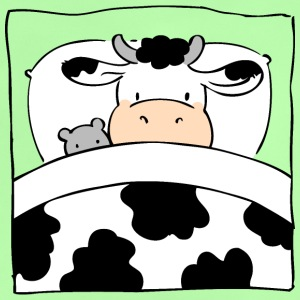 Cow in Bed Shirts - Baby T-Shirt