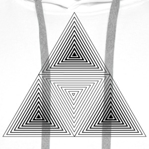 Fractal Geometry Triangle T-Shirts - Men's Premium Hoodie