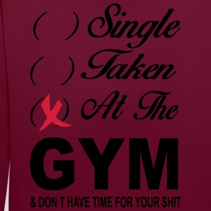 Single Taken At The Gym T-Shirts - Contrast Colour Hoodie