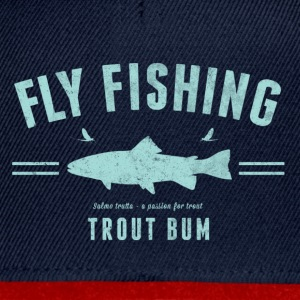 Fly fishing trout bum - Snapbackkeps