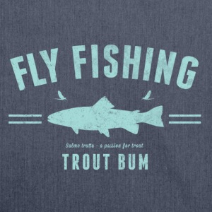 Fly fishing trout bum - Shoulder Bag made from recycled material