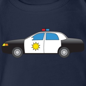 Police Car Shirts - Organic Short-sleeved Baby Bodysuit