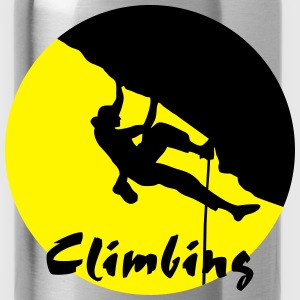 climbing, climber - Water Bottle