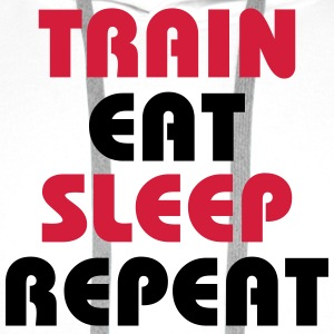 Train Eat Sleep Repeat T-shirts - Premiumluvtröja herr