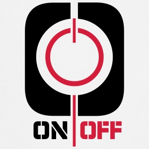 On Off Power Symbol Logo T-Shirts - Cooking Apron