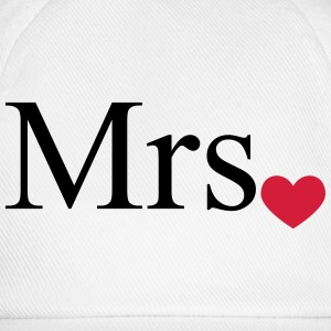 Mrs with heart dot (Mr and Mrs set) T-Shirts - Baseball Cap