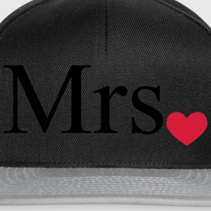 Mrs with heart dot (Mr and Mrs set) Tops - Snapback Cap