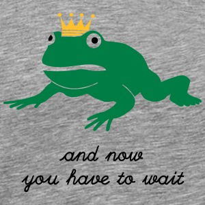 grumpy frog prince - waiting Manches longues - T-shirt Premium Homme