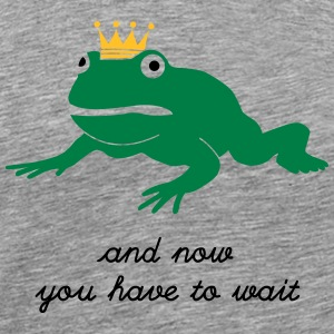 grumpy frog prince - waiting Long sleeve shirts - Men's Premium T-Shirt