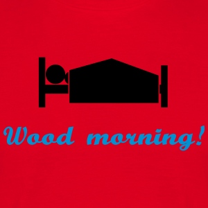 wood morning Kookschorten - Mannen T-shirt