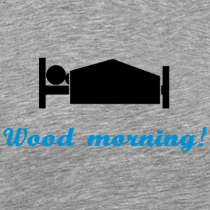 wood morning Tank Tops - Herre premium T-shirt