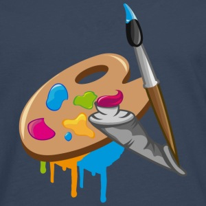 a Paint brush, colors and a painter's palette T-Shirts - Men's Premium Longsleeve Shirt