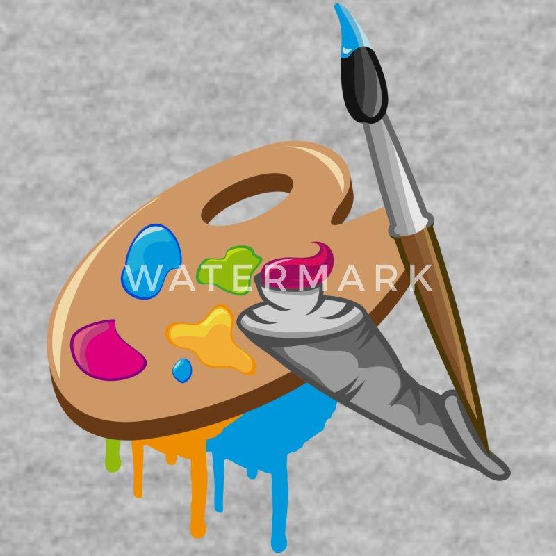 Sweat shirt un pinceau couleur et la palette d 39 un peintre for Manche d un pinceau