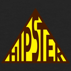 Hipster Triangle Logo Caps & Hats - Men's Premium Longsleeve Shirt