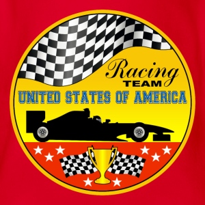 us racing team 01 Shirts - Organic Short-sleeved Baby Bodysuit