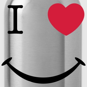 I Love (Hear) Smiley Face T-Shirts - Water Bottle