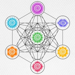 Metatrons Cube, Chakras, Cosmic Energy Centers,  Tee shirts - Casquette classique