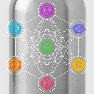 Metatrons Cube, Chakras, Cosmic Energy Centers T-Shirts - Water Bottle