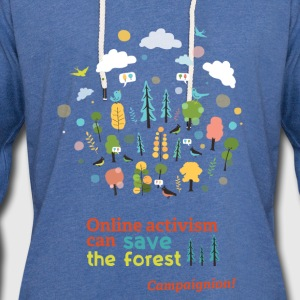Save the forest Shirts - Light Unisex Sweatshirt Hoodie