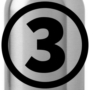 number three T-Shirts - Water Bottle