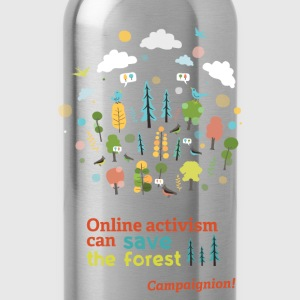 Save the forest dark T-Shirts - Water Bottle