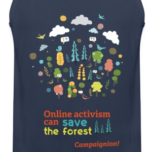 Save the forest dark T-Shirts - Men's Premium Tank Top