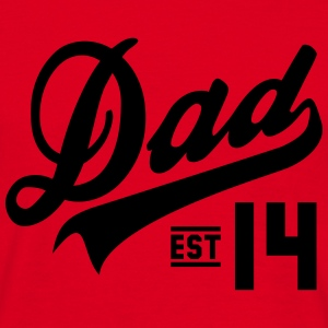 Dad Established 2014  Sweaters - Mannen T-shirt