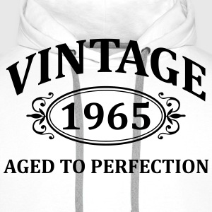 Vintage 1965 Aged to Perfection T-Shirts - Men's Premium Hoodie