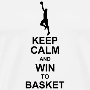 keep_calm_and_win_to_basket_g1 Caps & luer - Premium T-skjorte for menn